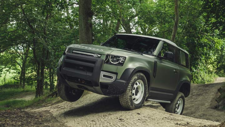 New Land Rover Defender Off-roading