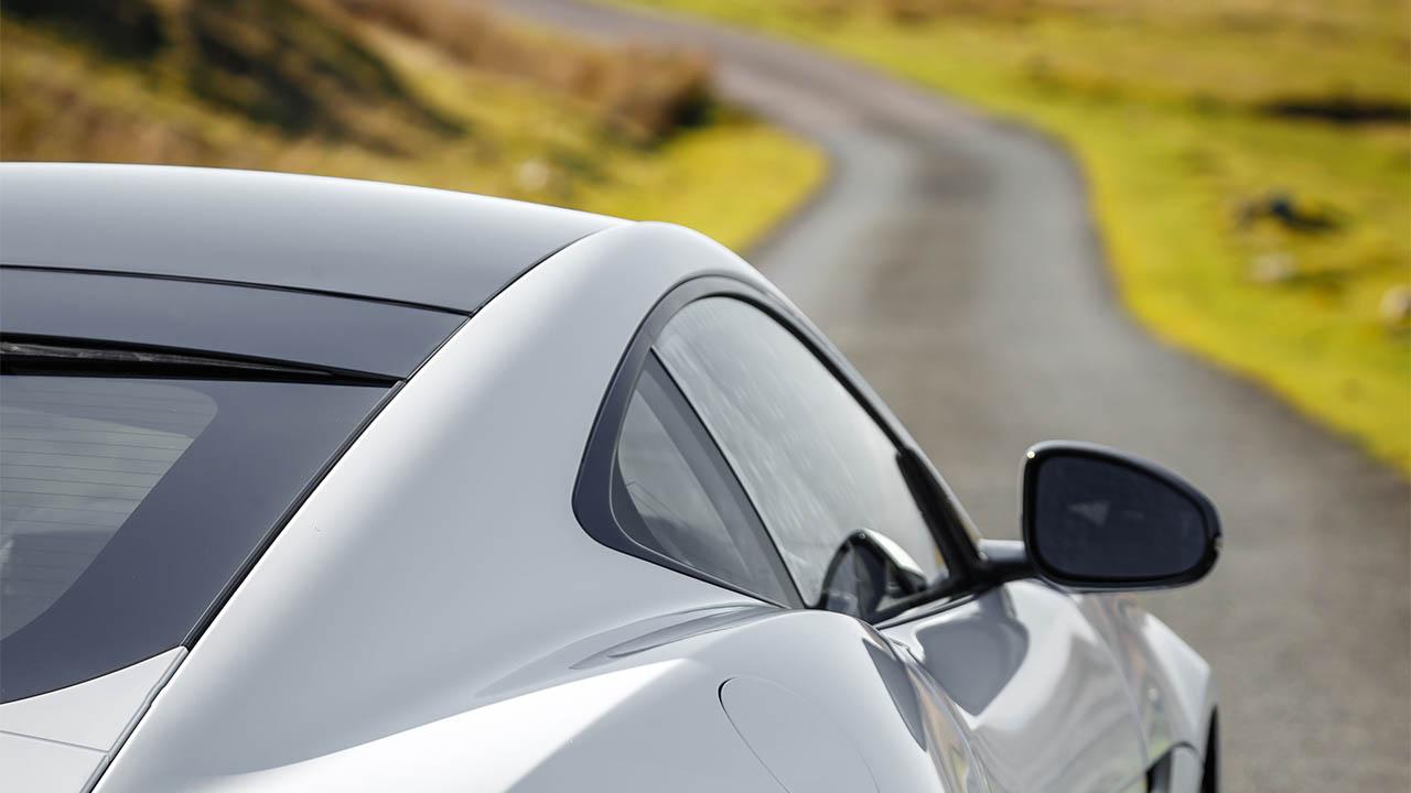 jaguar f-type facing down road