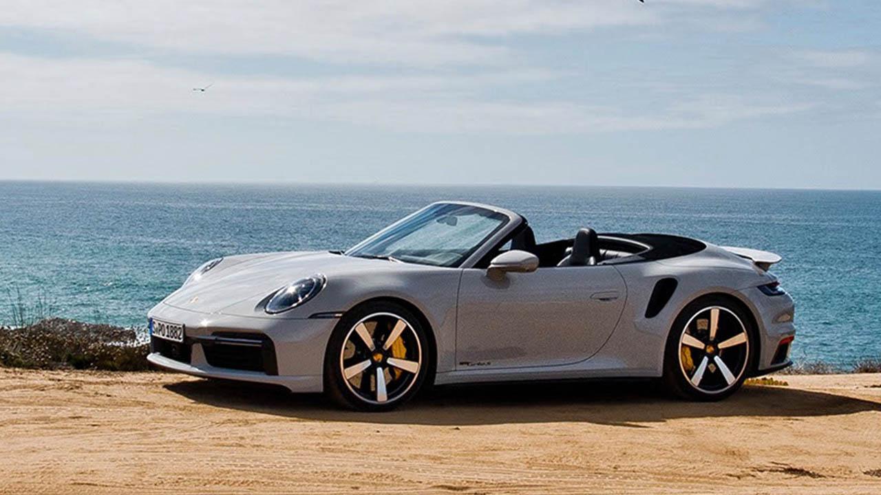 grey porsche 911 convertible
