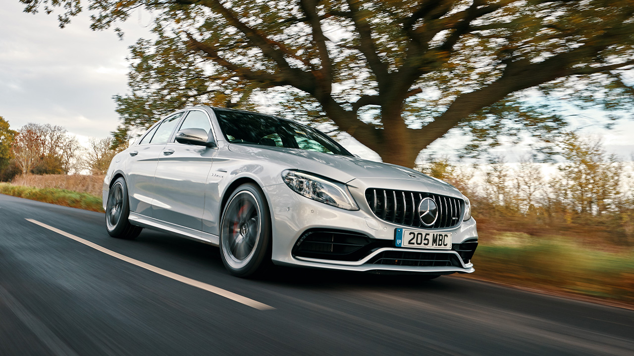 Mercedes-AMG C-Class, driving down country road