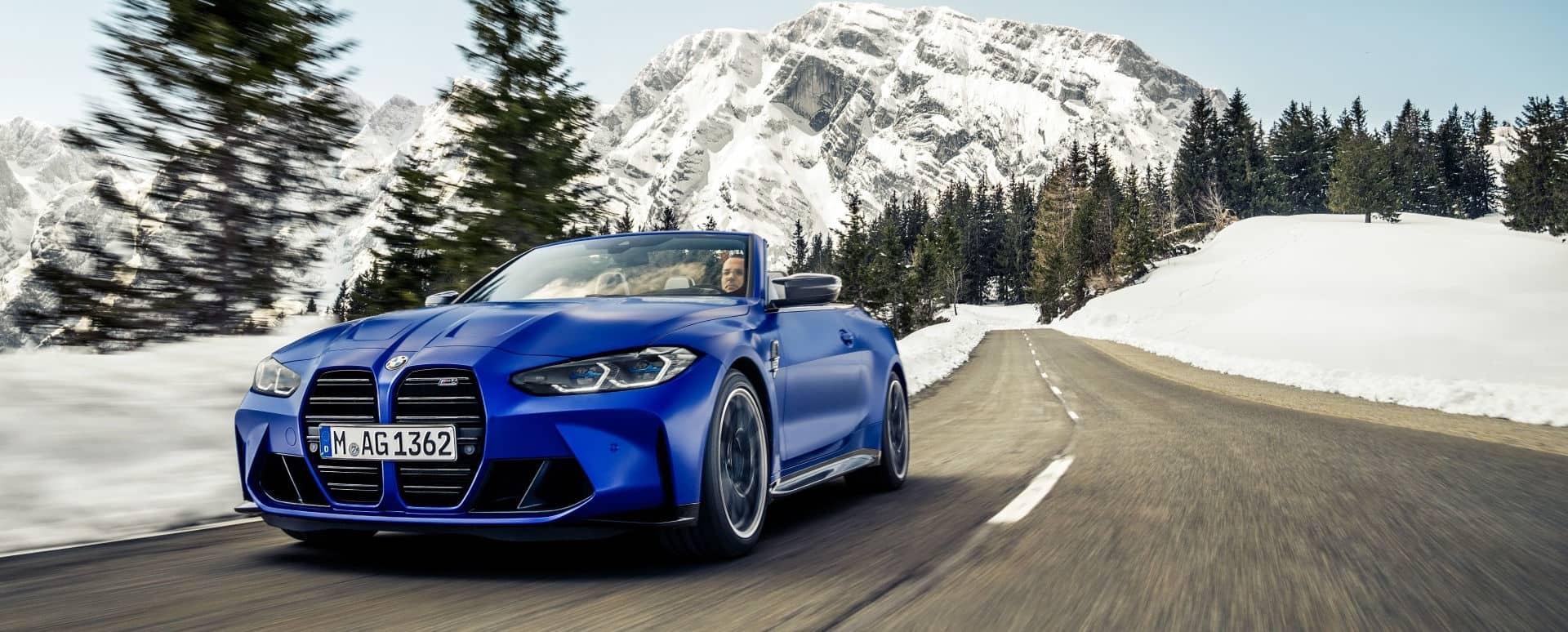 Blue BMW M4 Convertible