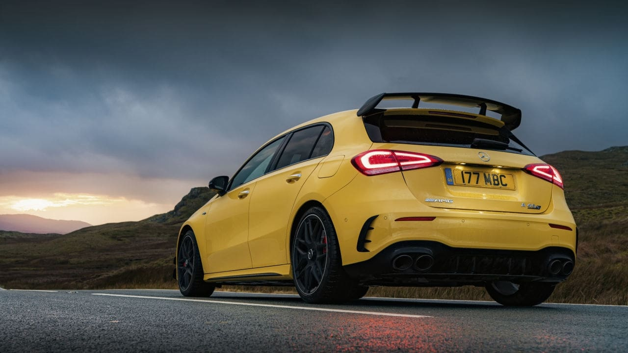 Mercedes-AMG A 45 S, Rear, Yellow