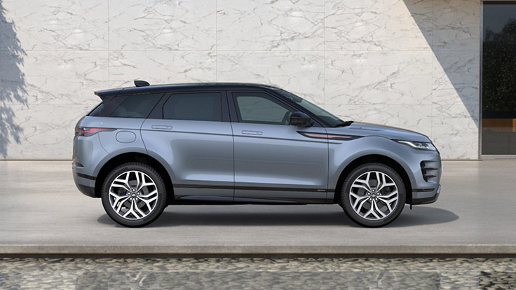 Side view of the Nolita Grey First Edition Evoque.
