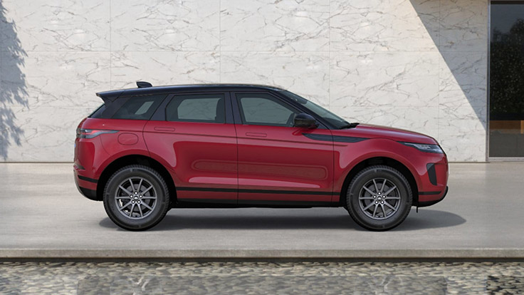 View from the left side of the Firenze Red Evoque.