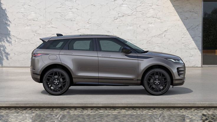 View from the left side of the Kaikoura Stone R-Dynamic SE Evoque.