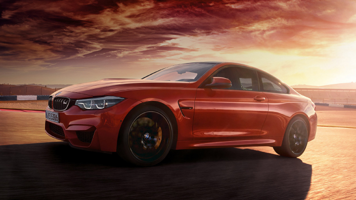 BMW M4 in red.