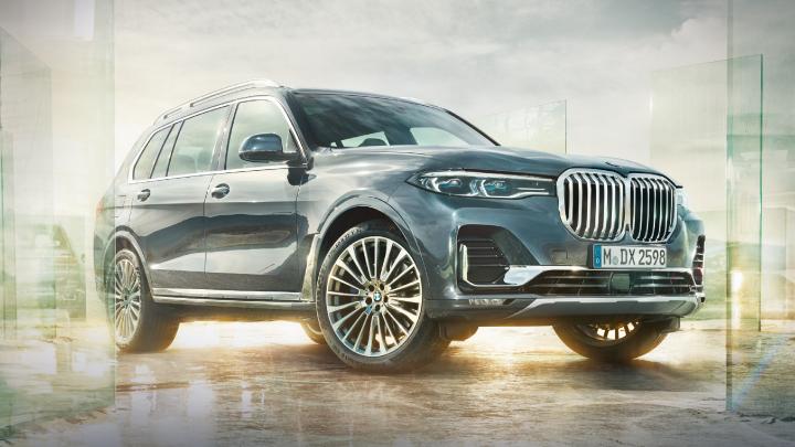 BMW X7 parked.