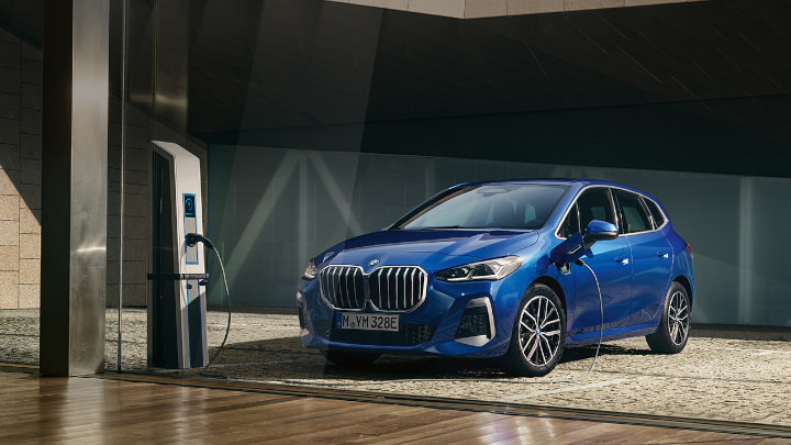 2022 Blue BMW 2 Series Active Tourer Charging