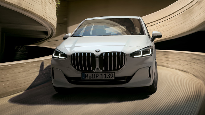 2022 White BMW 2 Series Active Tourer Driving Front