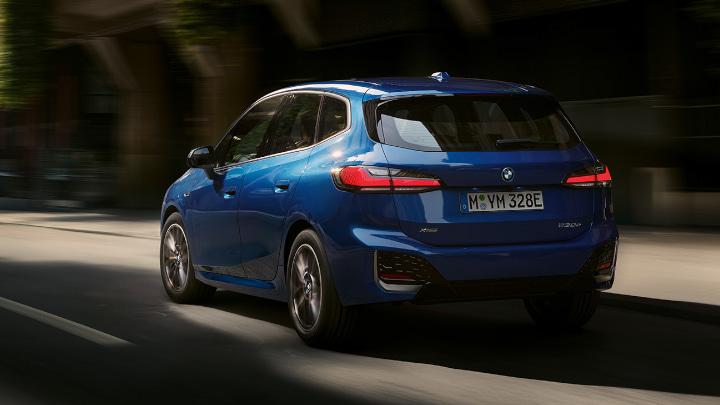 2022 Blue BMW 2 Series Active Tourer Driving Rear