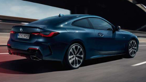 BMW 4 Series Coupe , Driving, Rear