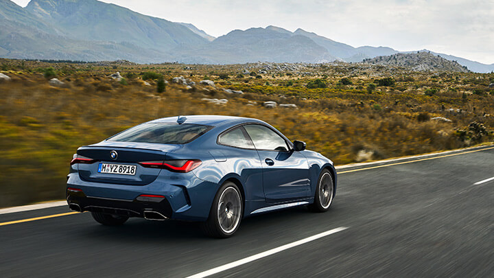 BMW 4 Series Coupe, Driving, Rear
