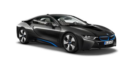 Black BMW i8.
