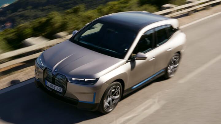 BMW iX Driving