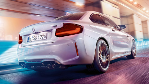 BMW M2 Competition Driving, Rear