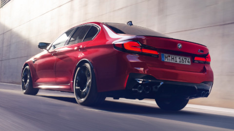 BMW M5 Exterior, Rear Driving