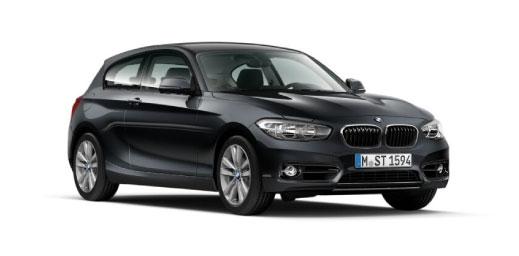 Black BMW 1 Series.