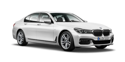 White BMW 7 Series