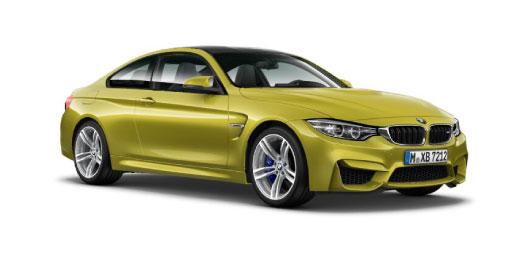 Yellow BMW M4