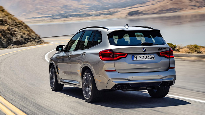 BMW X3 M Competition Exterior, Rear, Driving