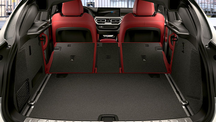 BMW X4, boot with rear seats folded down