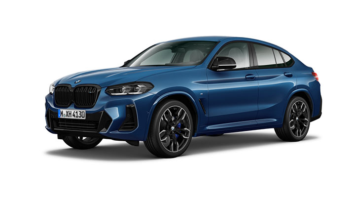 Blue BMW X4 M Model