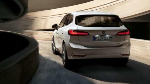 White 2022 BMW 2 Series Active Tourer Driving Rear