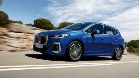 Blue 2022 BMW 2 Series Active Tourer Driving Side