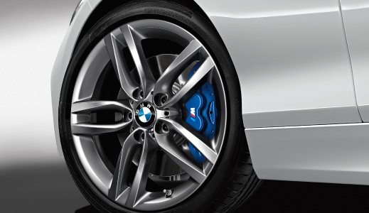 Silver BMW's wheel.