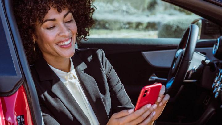 Car Owner on Smartphone