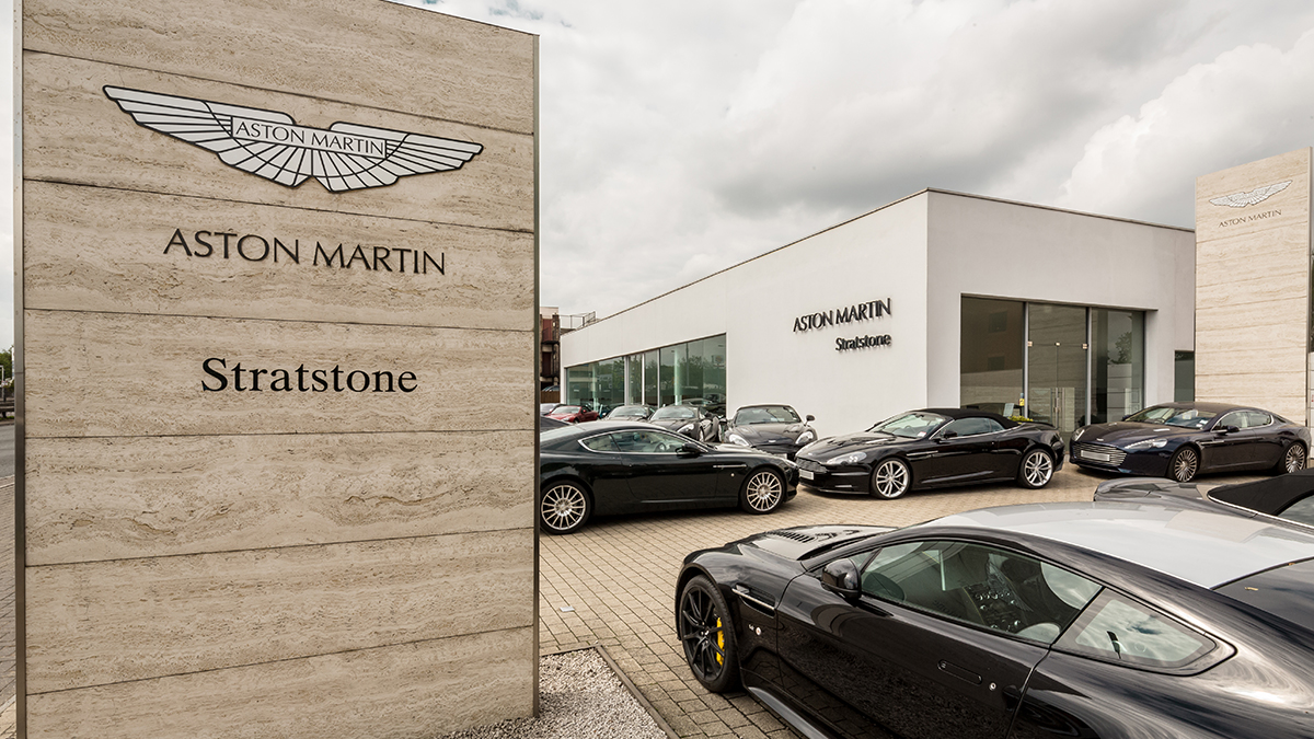 Aston Martin Outside Dealership