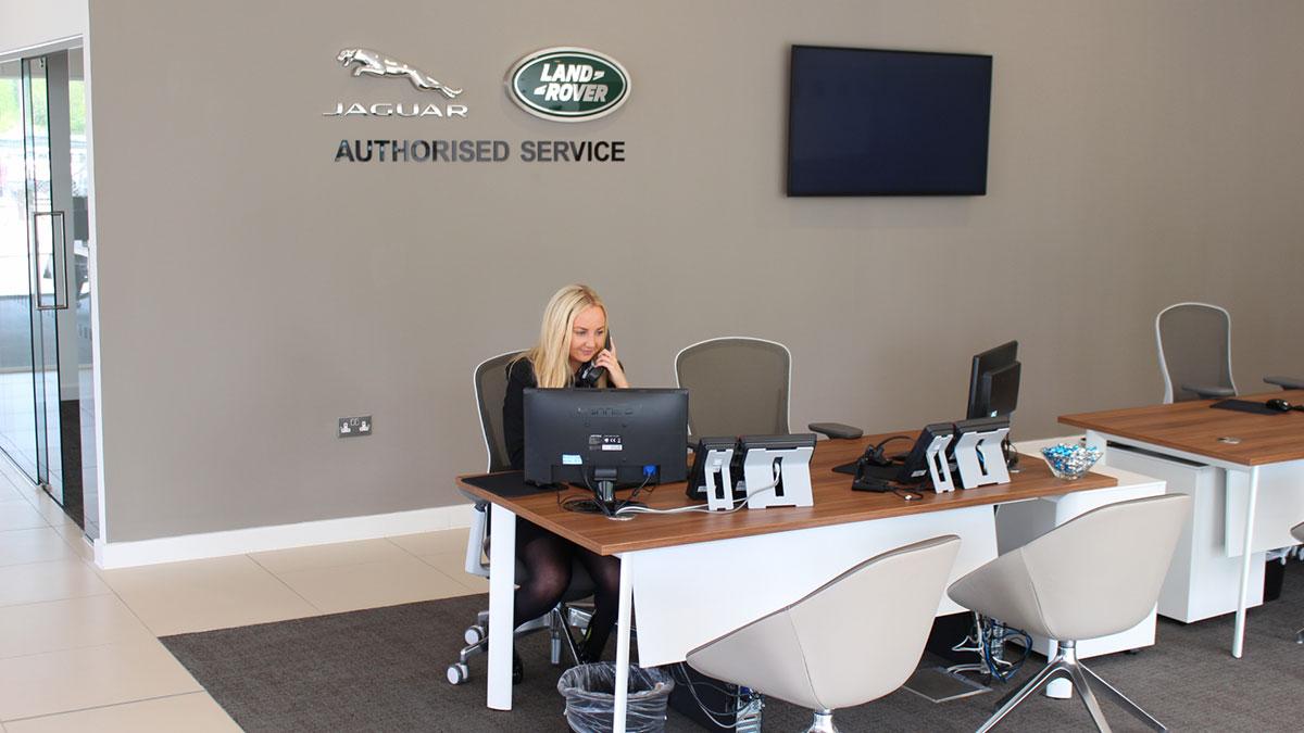 Jaguar Land Rover Newport reception.