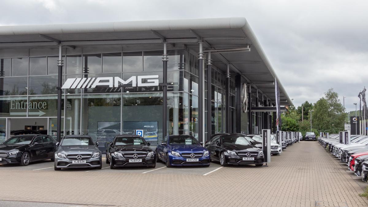 Outside Mercedes-Benz of Leeds dealership