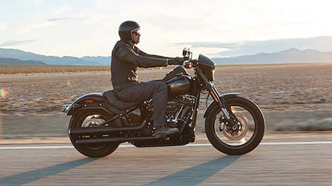 harley-davidson, owner riding in desert