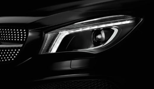 Black car headlight.
