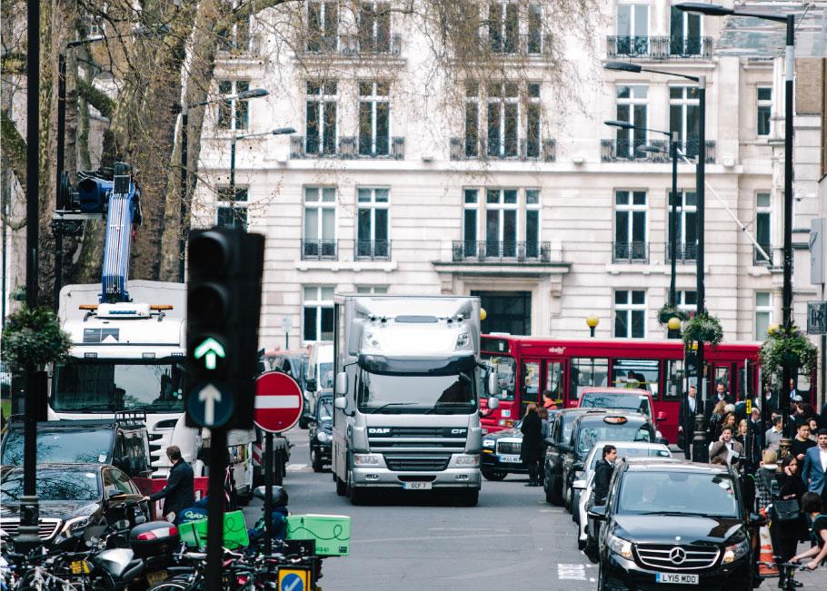 Jaguar Lightweight E-Type arriving in London.
