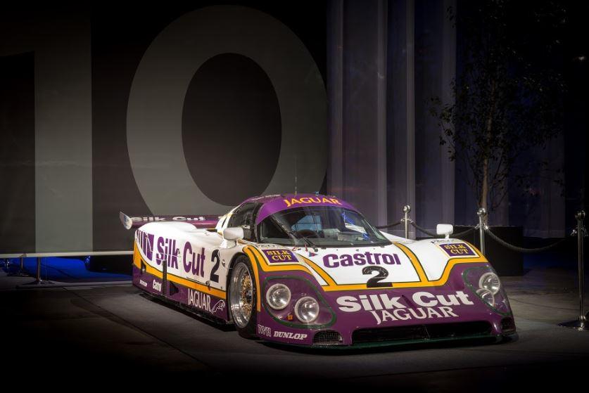 Jaguar XJR-9 on stage at Le Mans Classic.