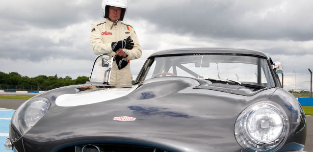 Gary Pearson stood with the E-Type