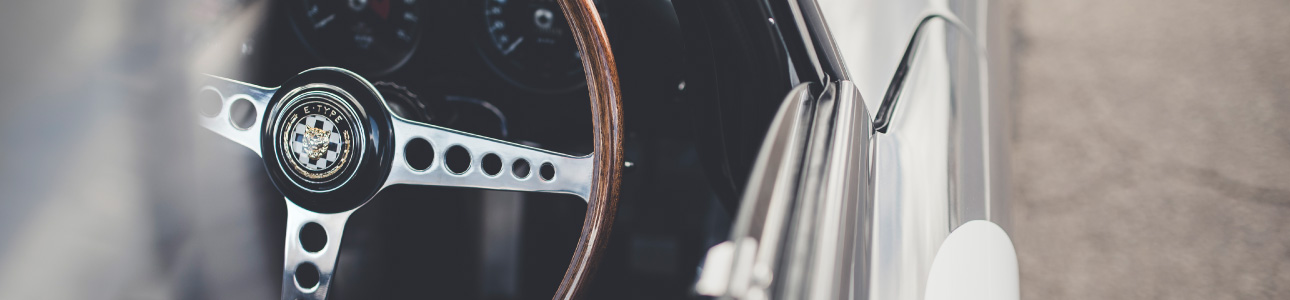 E-Type steering wheel.