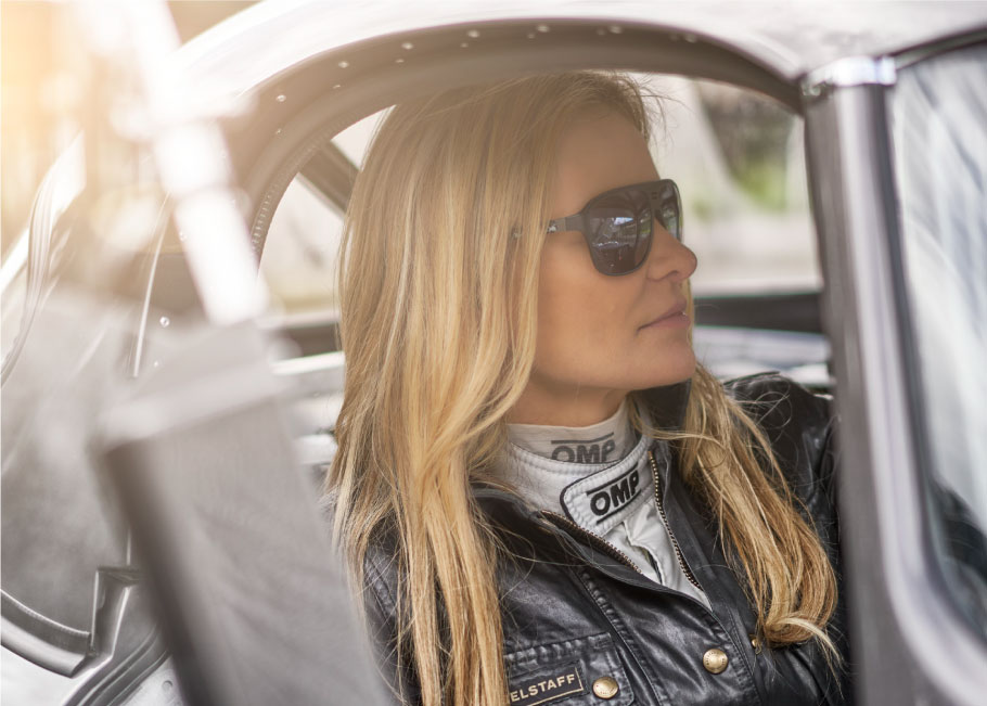 Classic car enthusiast and racer Katarina Kyvalova.