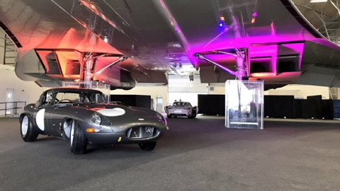 Jaguar E-Type meets the concorde