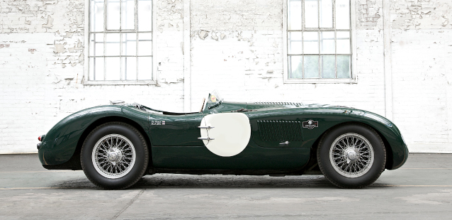 Jaguar C-Type in green.