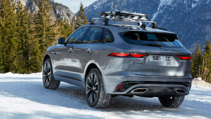 Jaguar F-PACE Rear in Snow