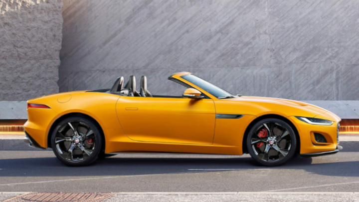 Jaguar F-TYPE Convertible Side Profile