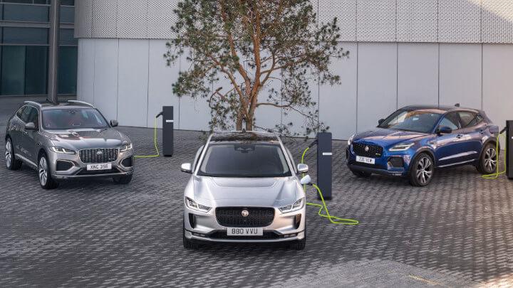 Jaguar Hybrid and Electric Range of Cars