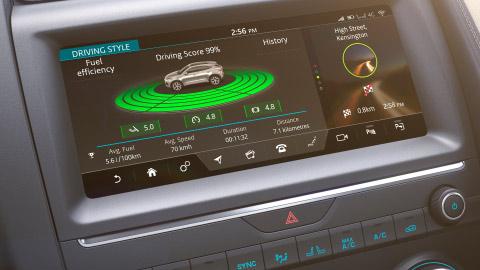 Jaguar E-PACE in car technology