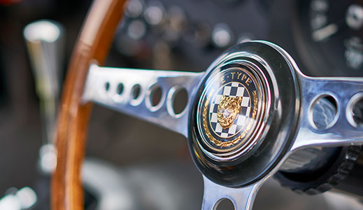 Jaguar Lightweight E-Type steering wheel.