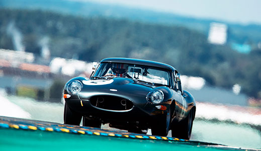Stratstone's Lightweight E-Type at Le Mans.
