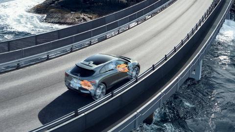 Jaguar I-PACE on the road