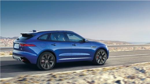 Jaguar F-Pace in blue.